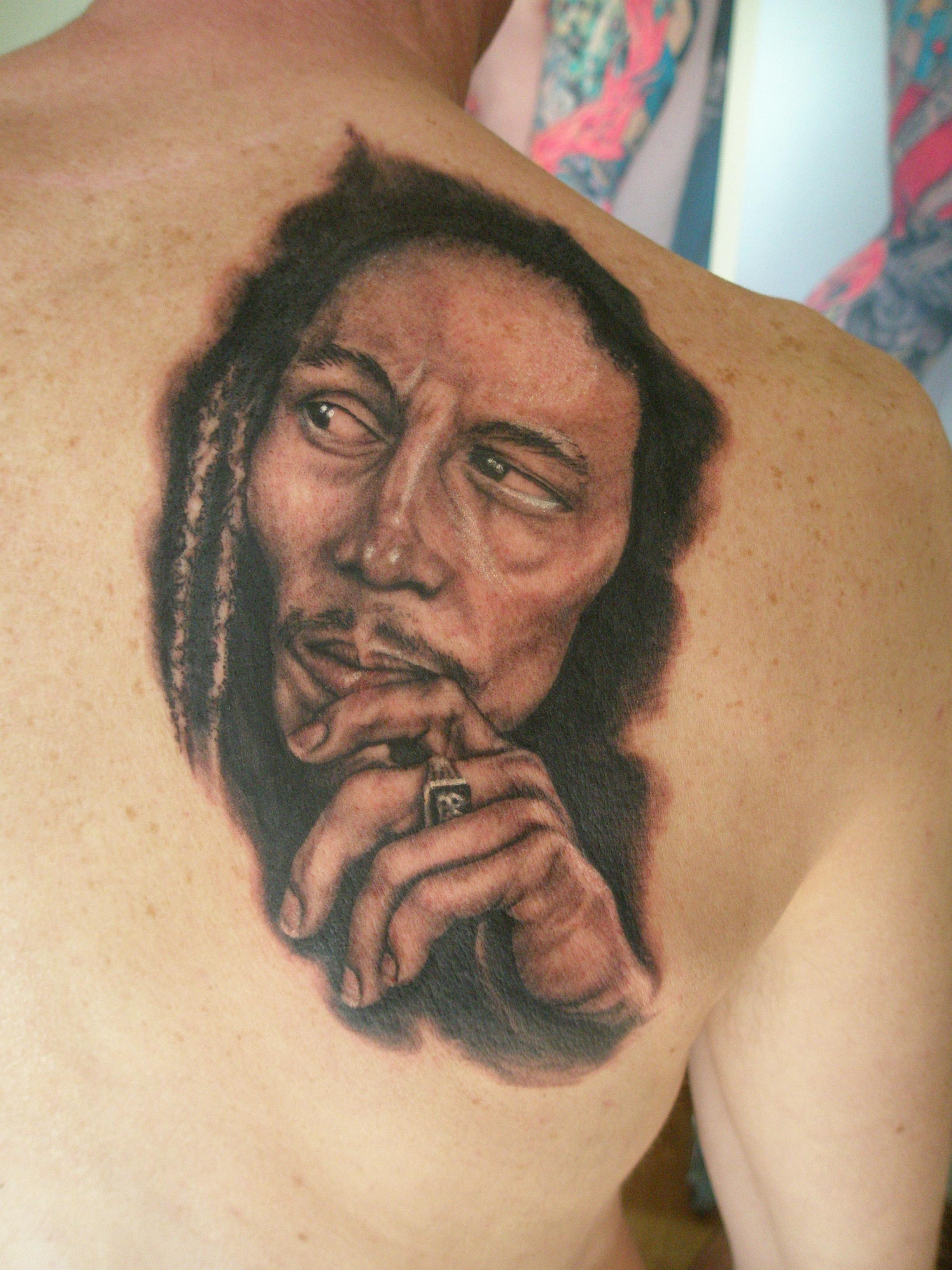Bob marley neiltattoos for Bob marley tattoos